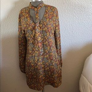 Vintage paisley mini dress